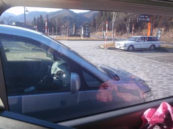 スモークガラス車内から.JPG
